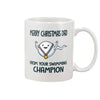 Merry Christmas Dad From Your Swimming Champion Mug Gift For First Time Dad, For New Dad, Gift For Husband