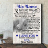 I will love you until I die personalized poster canvas gifts for him - GST