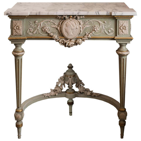 ANTIQUE FRENCH CARVED CAMEO CONSOLE