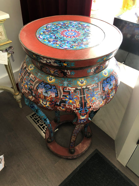 ANTIQUE PAIR OF CHINESE CLOISONNÉ TABLES