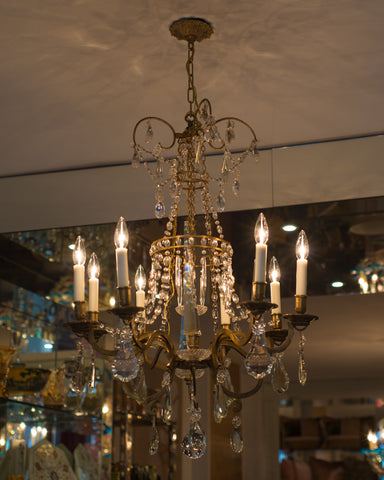 ANTIQUE BRONZE FLORENTINE CHANDELIER