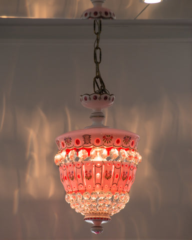 ANTIQUE PINK BOHEMIAN CHANDELIER