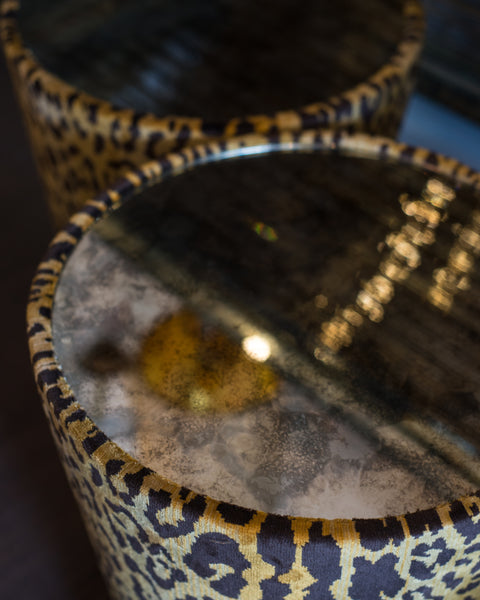 STUDIO MAISON NURITA LEOPARD VELVET SIDE TABLE
