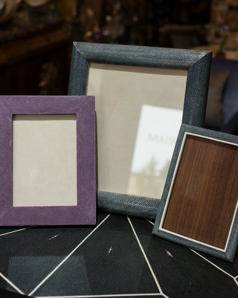A group of Shagreen Picture Frames