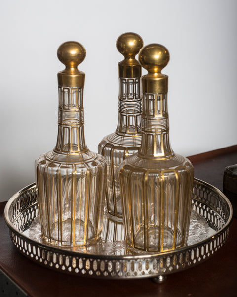 ANTIQUE BACCARAT GILT DECANTER
