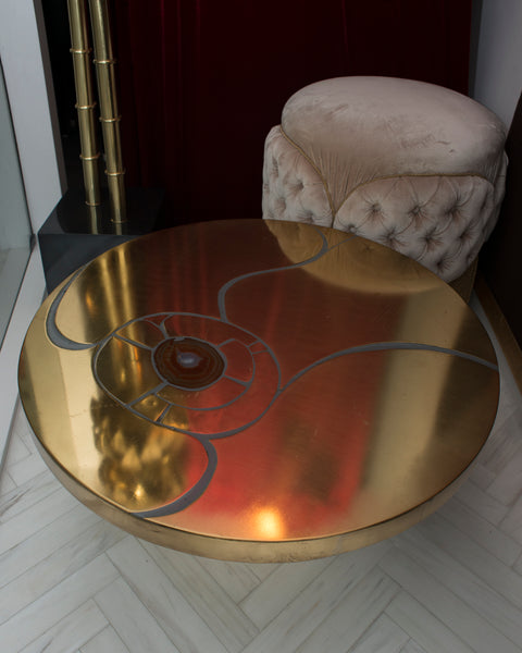Lova Creations MID-CENTURY METAL & AGATE TABLE