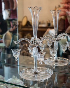 ANTIQUE FRENCH GLASS EPERGNE