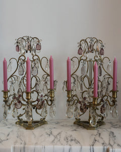 ANTIQUE FRENCH PAIR OF GIRANDOLES