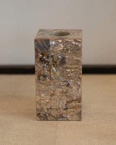INLAID MOTHER OF PEARL SQUARE SOAP DISPENSER HOLDER