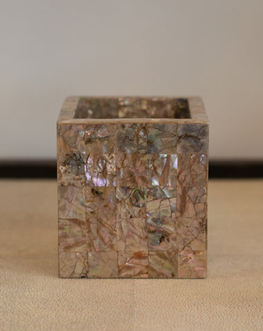 INLAID MOTHER OF PEARL CONTAINER