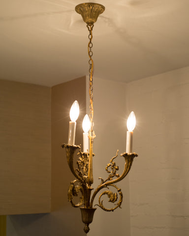 ANTIQUE FRENCH BRONZE CHANDELIER