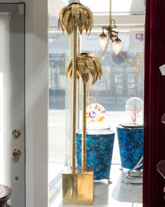 CONTEMPORARY METAL PALM FLOOR LAMP