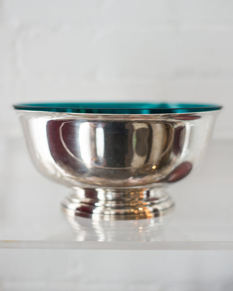 MID-CENTURY LARGE STERLING BOWL