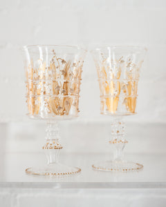 CONTEMPORARY LILY OF THE VALLEY GLASSES, JOY DE ROHAN CHABOT