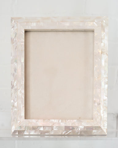 LARGE WHITE MOTHER OF PEARL FRAME