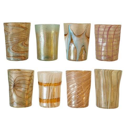 SET OF 8 CONTEMPORARY MURANO TUMBLERS