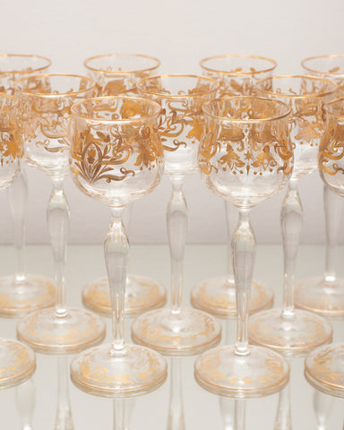 ANTIQUE VENETIAN WINE GLASSES