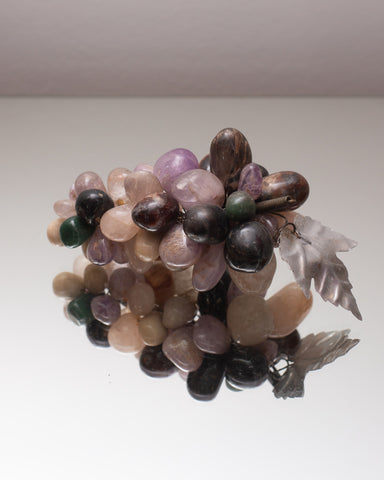 CONTEMPORARY SMALL BUNCH OF SEMI-PRECIOUS GRAPES