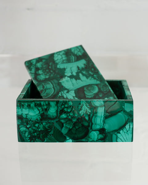 CONTEMPORARY MALACHITE BOX FROM PARIS