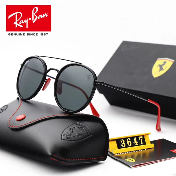 Ray Ban RB3647 Scuderia Ferrari Collection - Black Frame & Black Lenses with Red Temple Tips _mxm_store_exclusive_brands