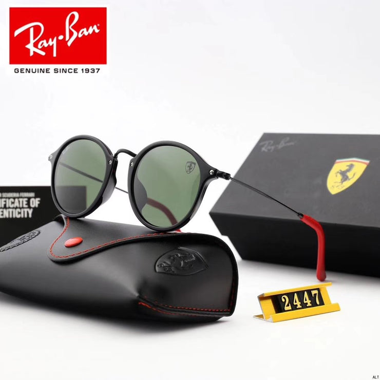Ray Ban RB2447NM Scuderia Ferrari Collection - Round Sunglasses _mxm_store_exclusive_brands