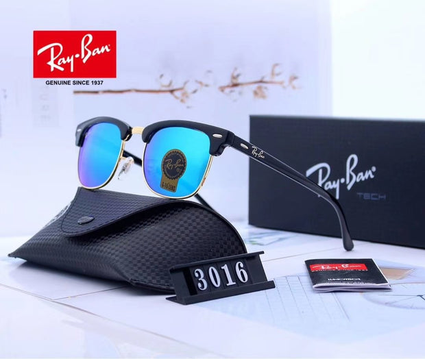 Ray Ban Clubmaster Classic RB3016 - Black Frame and Green Gradient Lenses _mxm_store_exclusive_brands