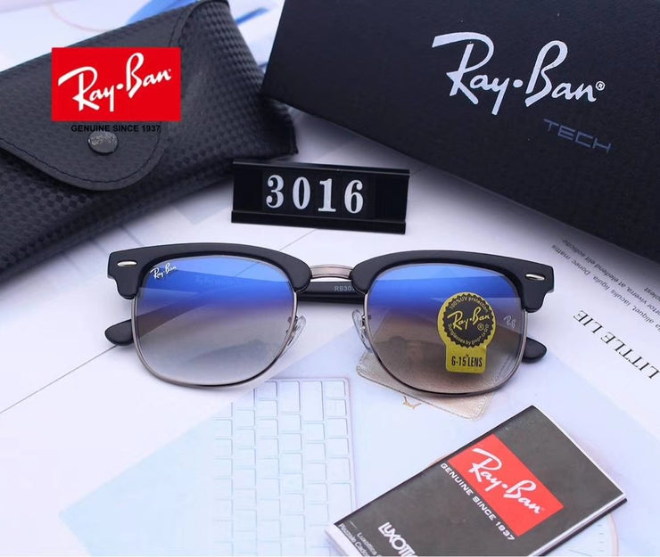 Ray Ban Clubmaster Classic RB3016 - Black Frame and Grey Gradient Lenses _mxm_store_exclusive_brands