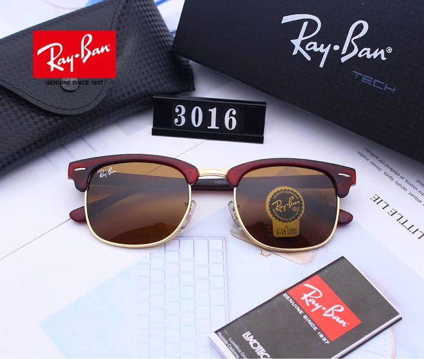 Ray Ban Clubmaster Classic RB3016 - Brown Frame and Brown Lenses _mxm_store_exclusive_brands