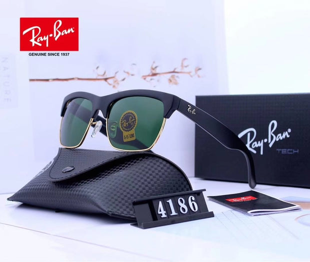 Ray Ban RG4186-57  - Black Frame and Green Lenses _mxm_store_exclusive_brands