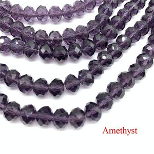 Crystal Rondel Beads Glass Beads Faceted Crystal Beads for Jewelry Making Jewelry Accessories Translation Diy
