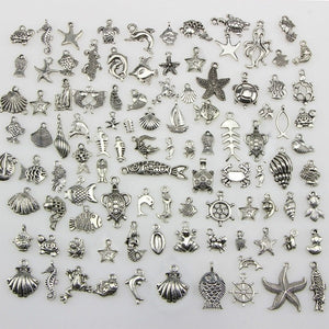 Turtle Ocean Theme Biological Charms Pendant DIY Beads Jewelry Accessories