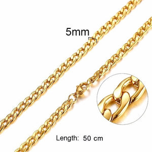 Chains Link Men Choker Stainless Steel Male Female Accessories Fashion