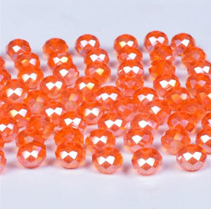 Beads for Needlework Women Diy Accessories Pearls Loose Facet Glass Beads