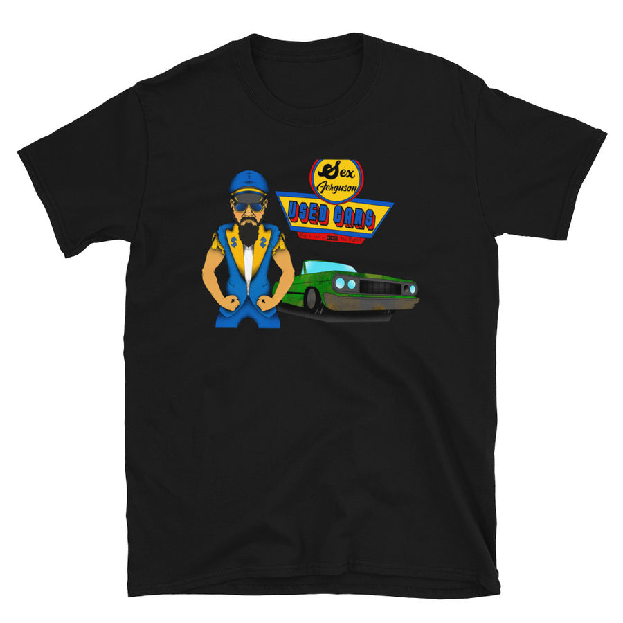 Talk N' Shop A Mania 2 Sex Ferguson Used Cars T-Shirt Black