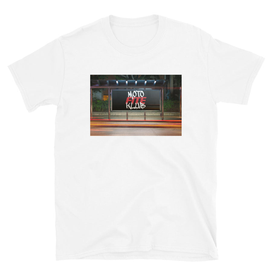 Moto Fite Klub Billboard T-Shirt White