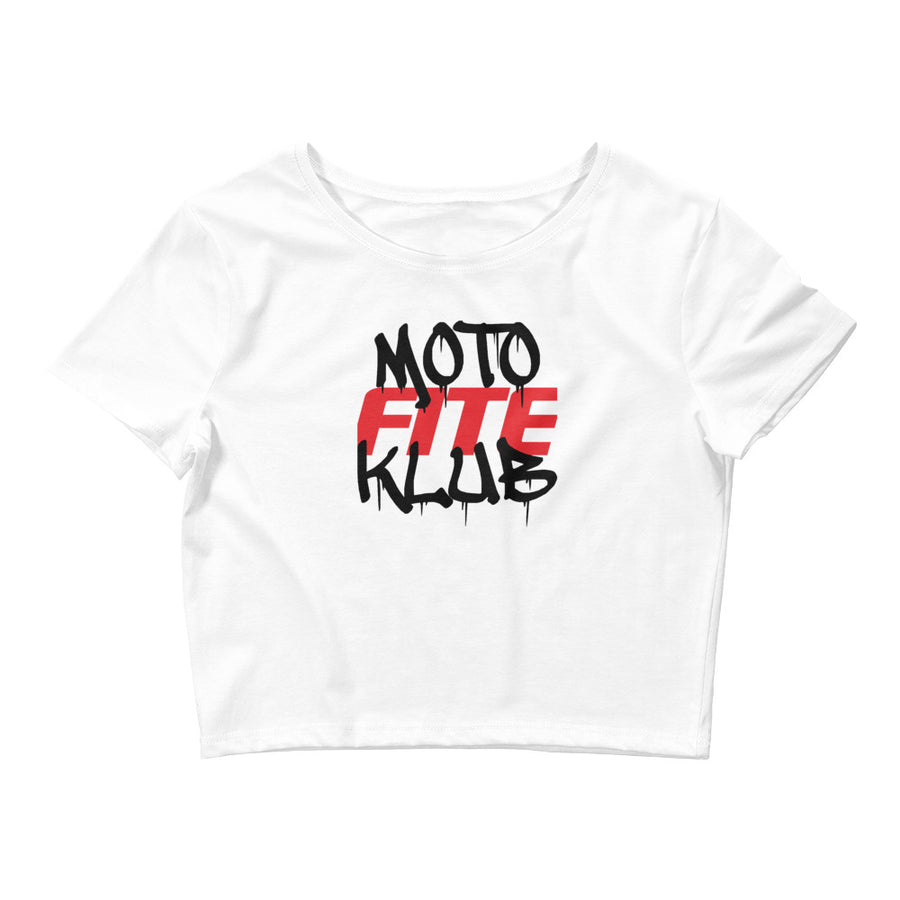Moto Fite Klub Text Women's Crop Tee