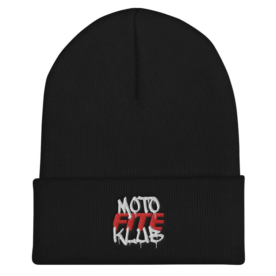 Moto Fite Klub Text Beanie Black