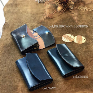 Load image into Gallery viewer, 【Horween社Cordovan】 Card Case / col,NAVY