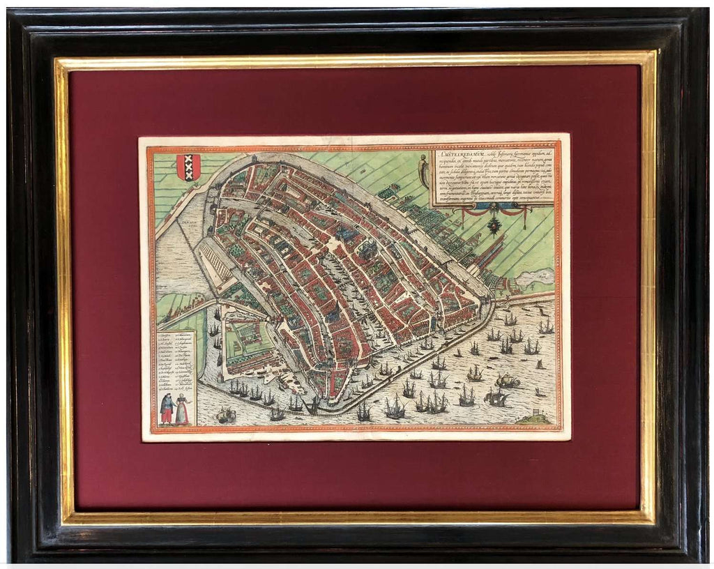 448 Year Old Unique map of AMSTERDAM - TERTIUS COLLECTION