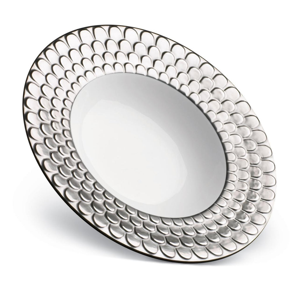 Aegean Rimmed Serving Bowl - Large - Platinum - L'Objet