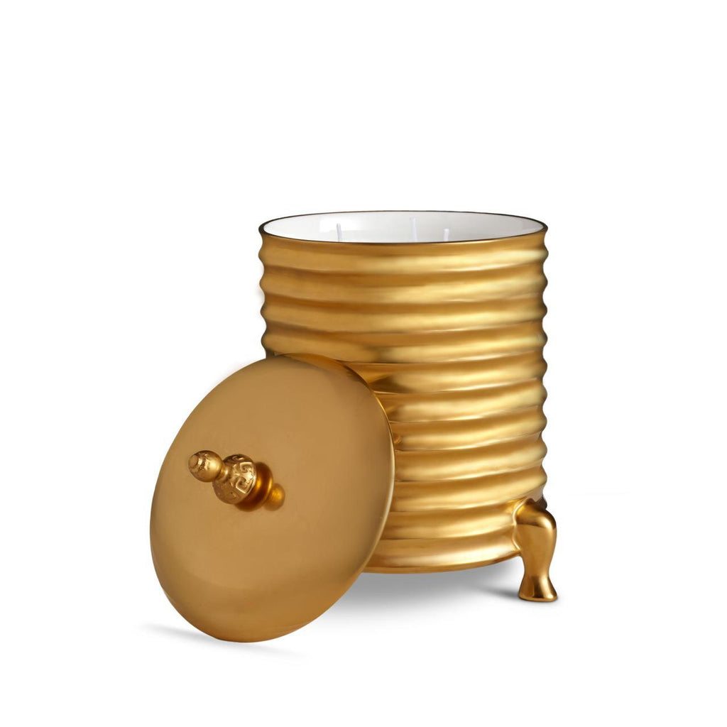 Han Candle 3-wick - Medium - Gold