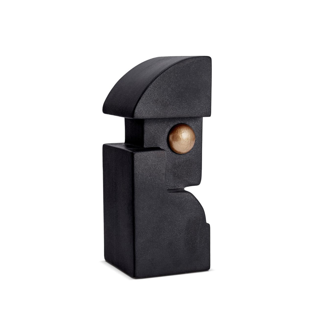 Cubisme One Bookend - Black & Gold