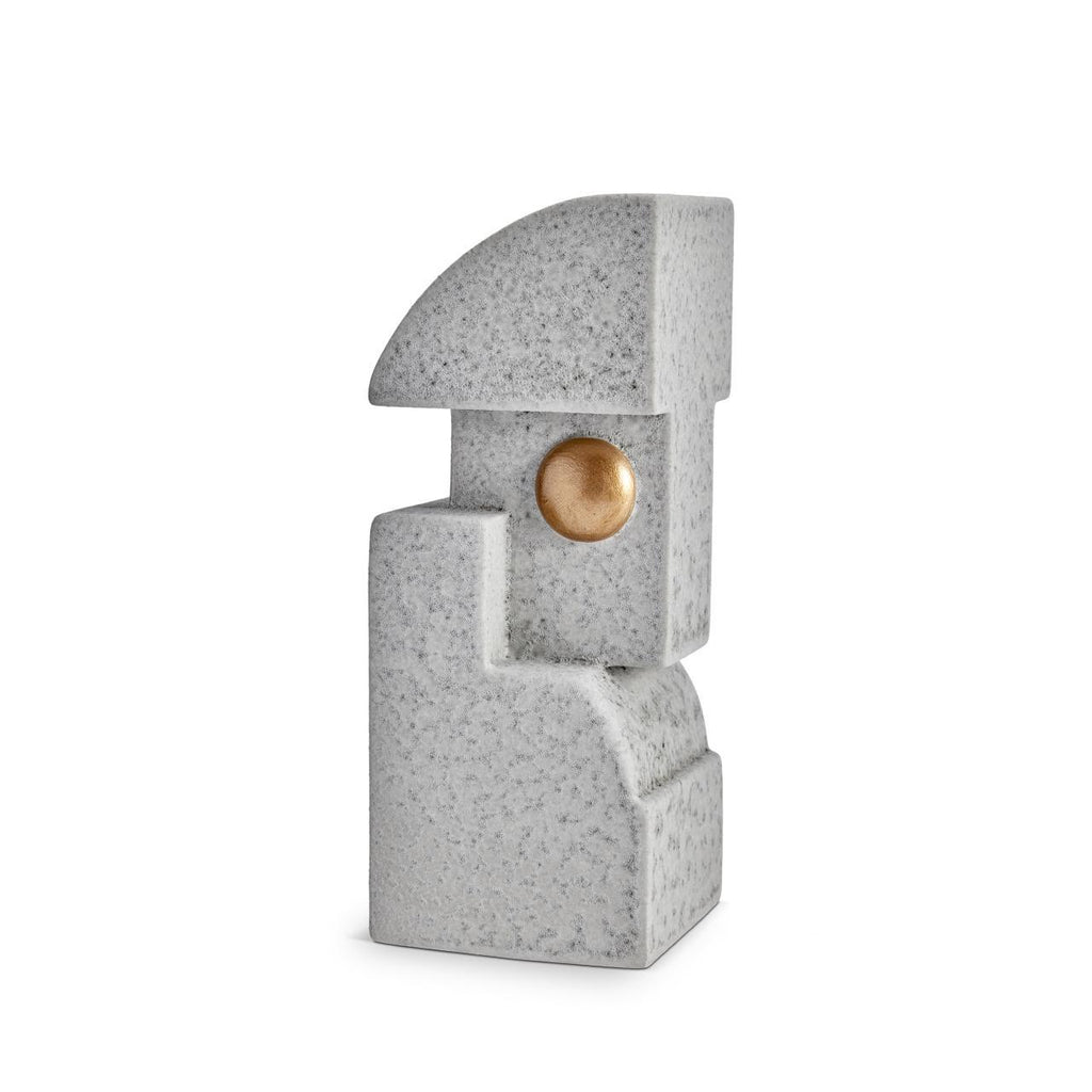 Cubisme One Bookend - Grey & Gold
