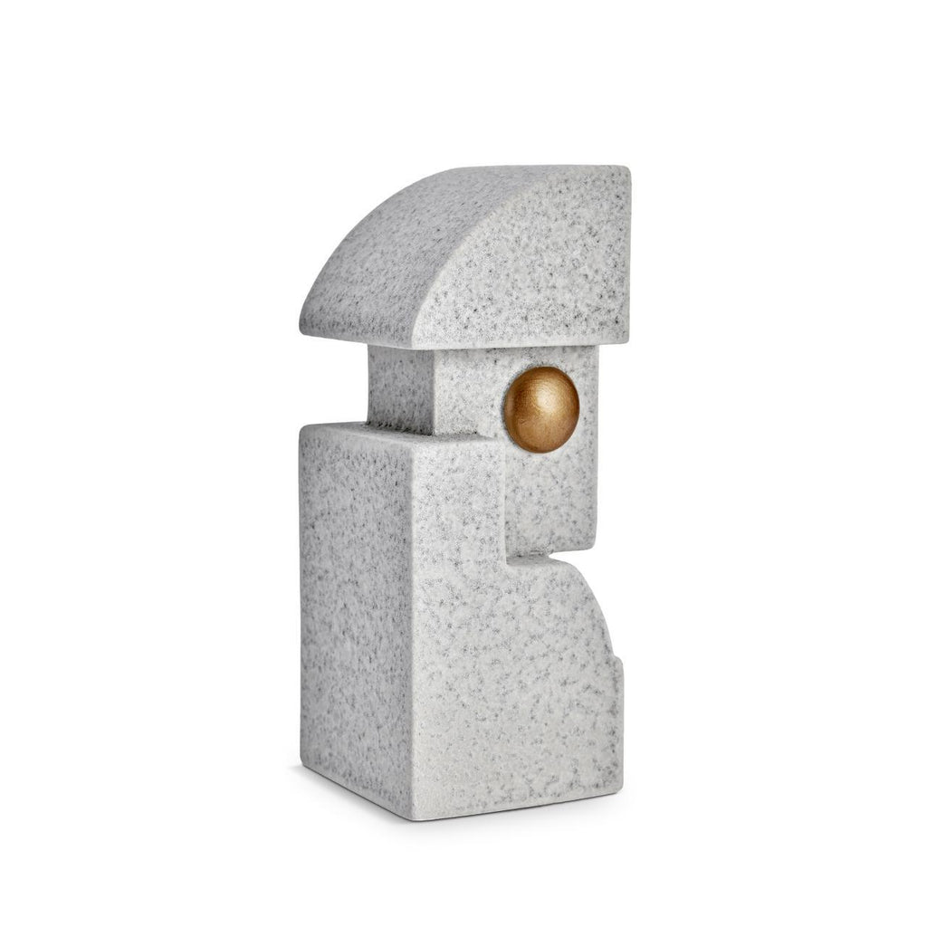 Cubisme One Bookend - Grey & Gold - L'Objet