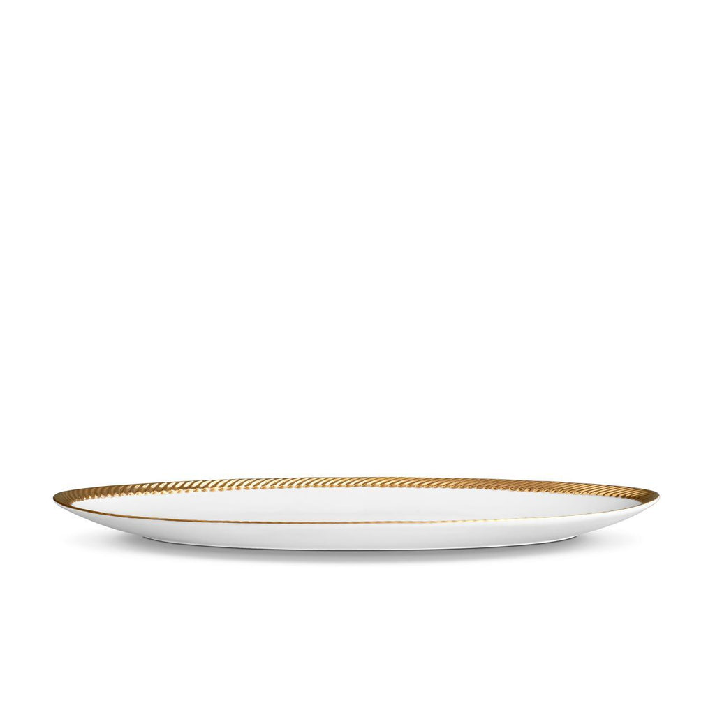 Corde Oval Platter - Large - Gold - TERTIUS COLLECTION