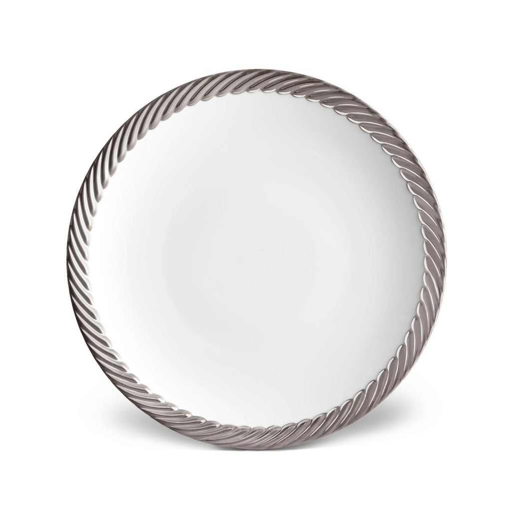 Corde Dinner Plate - Platinum - TERTIUS COLLECTION