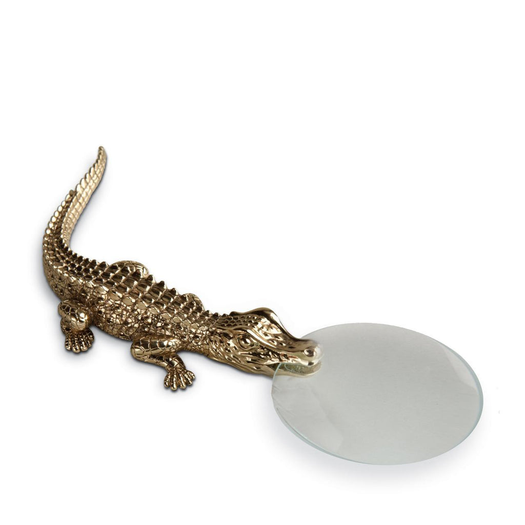 Crocodile Magnifying Glass - Gold - TERTIUS COLLECTION