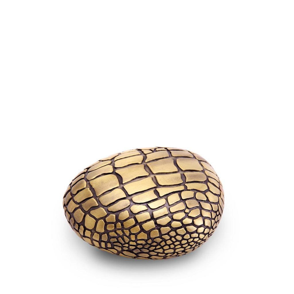 Crocodile Paperweight - Gold