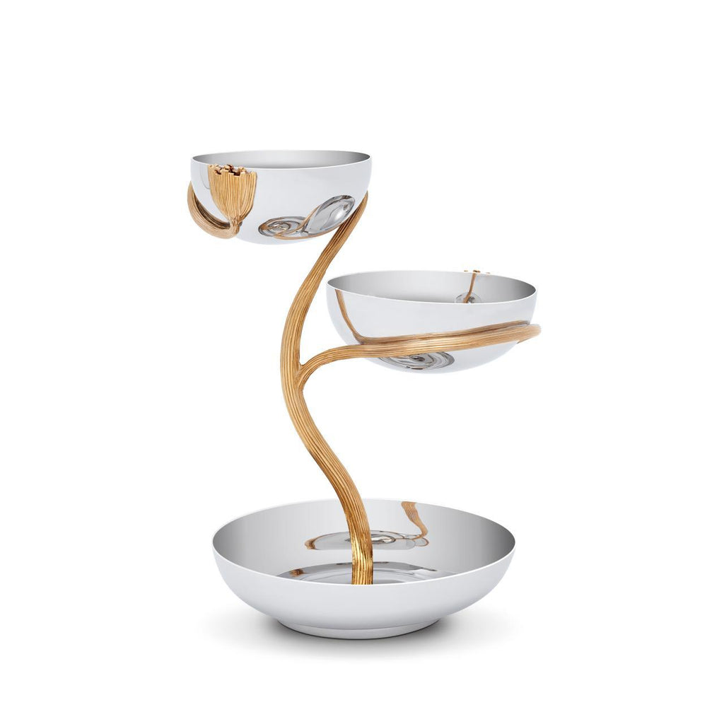 Deco Leaves 3-Tier Server - Medium - L'Objet