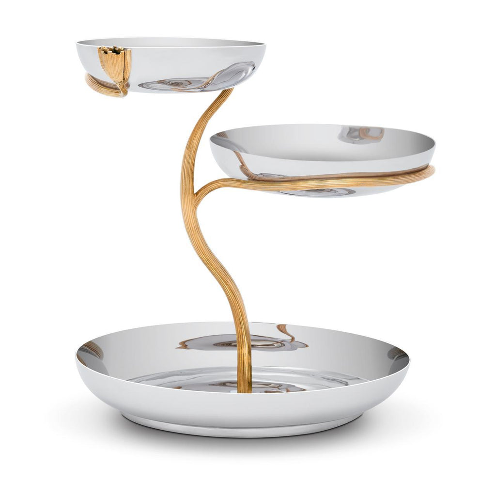 Deco Leaves 3-Tier Server - Large - L'Objet